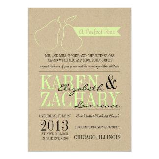 Invitación perfecta del boda de la pera