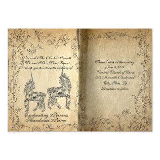 Invitación perfecta del boda del unicornio del invitación 12,7 x 17,8 cm