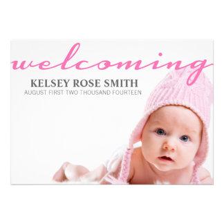 Invitación personalizada bebé de la invitación el