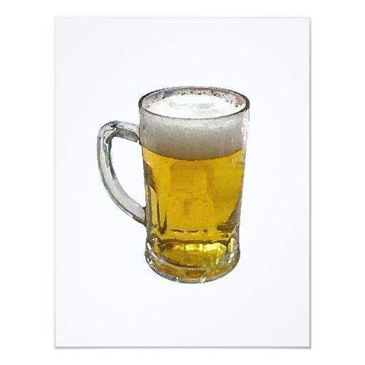 Invitación personalizada cerveza - la cerveza