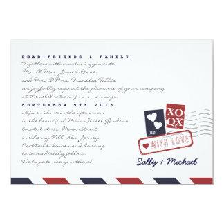 Invitación personalizada de la nota de la letra de