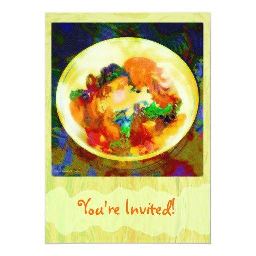 Invitación personalizada del cuenco de ensalada
