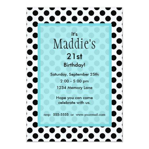 Invitación personalizada del cumpleaños