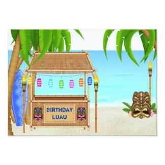 Invitación personalizada del cumpleaños de Luau