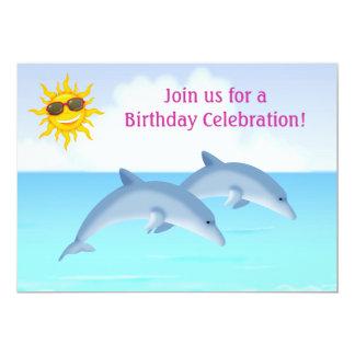 Invitación personalizada del cumpleaños del delfín