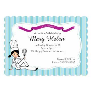 Invitación personalizada fiesta de cocinar