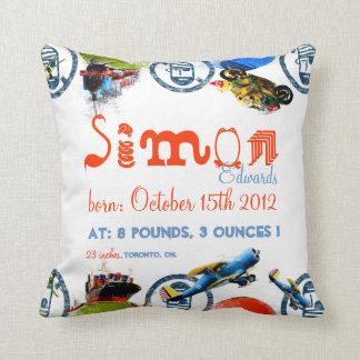Invitación personalizada/linda del nacimiento almohadas