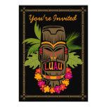 Invitación personalizada Luau de Tiki Invitación 12,7 X 17,8 Cm