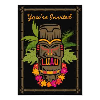 Invitación personalizada Luau de Tiki