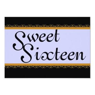 """Invitación-Personalizar de oro del dulce dieciséis Invitación 5"""" X 7"""""""