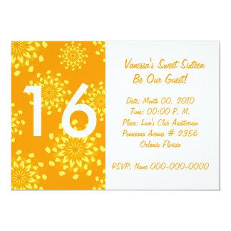 """Invitación-Personalizar de oro floreciente del Invitación 5"""" X 7"""""""