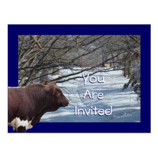 Invitación-personalizar de PLBSnowyLane Postal