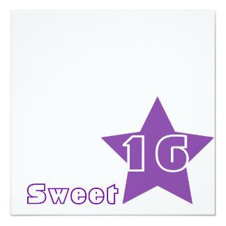 """Invitación-Personalizar dulce de la estrella Invitación 5.25"""" X 5.25"""""""
