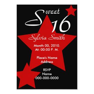 Invitación-Personalizar estupendo de la estrella Invitación 12,7 X 17,8 Cm