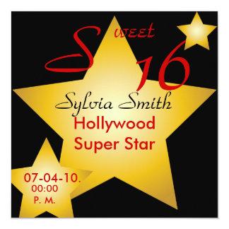 Invitación-Personalizar estupendo de la estrella Invitación 13,3 Cm X 13,3cm