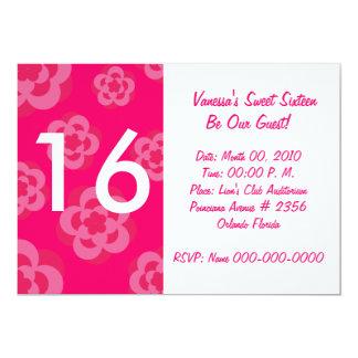 """Invitación-Personalizar rosado floreciente del Invitación 5"""" X 7"""""""