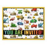 Invitación pesada del fiesta de los niños del tema invitación 10,8 x 13,9 cm