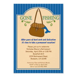 Invitación pesquera ida del fiesta de retiro invitación 12,7 x 17,8 cm