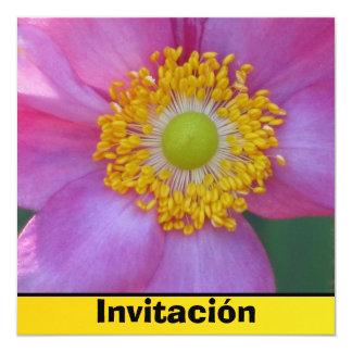Invitación - Pink Flower Card