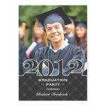 Invitación plana 2012 de la foto de la graduación invitación 12,7 x 17,8 cm