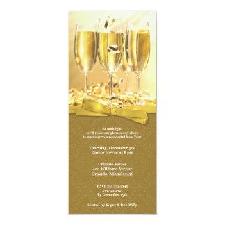 Invitación plana de la celebración de Noche Vieja