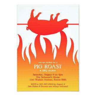 Invitación plana del Bbq de la carne asada del