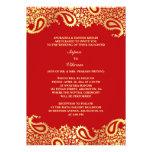 Invitación plana del boda indio elegante de Paisle