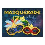 Invitación plana del fiesta de la mascarada invitación 12,7 x 17,8 cm
