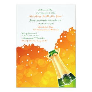 Invitación plana del fiesta de Noche Vieja