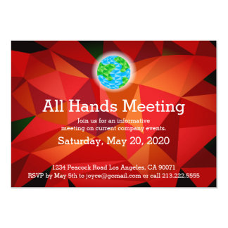 Invitación polivinílica baja roja de la reunión