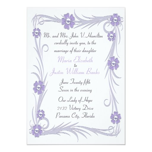 Invitación polvorienta elegante del boda de la