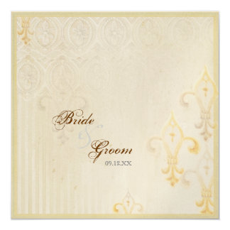 Invitación poner crema del boda de Fleur di Lys Invitación 13,3 Cm X 13,3cm