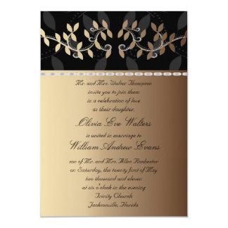 Invitación poner crema del boda de la frontera de