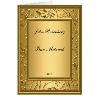 Invitación popular de Mitzvah de la barra de oro Felicitación