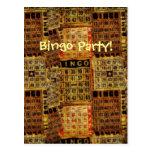 Invitación-Postal retra del fiesta del bingo
