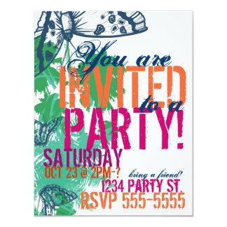 Invitación Postcar de la invitación del cumpleaños Invitación 10,8 X 13,9 Cm