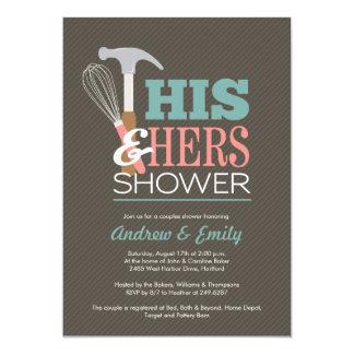 Invitación práctica de la ducha de los pares