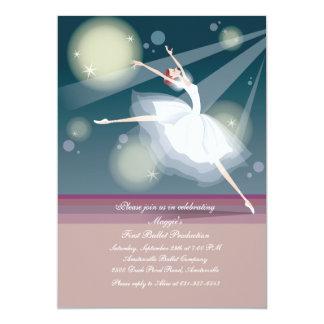 Invitación preciosa de la bailarina