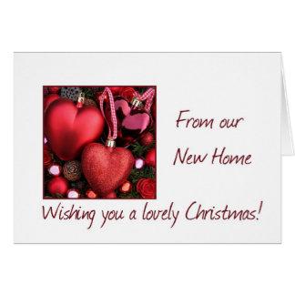 Invitación preciosa de la dirección del navidad tarjetas