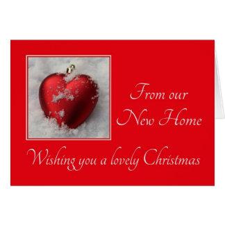 Invitación preciosa de la dirección del navidad tarjeta