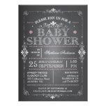 Invitación preciosa de la ducha de la niña de la p