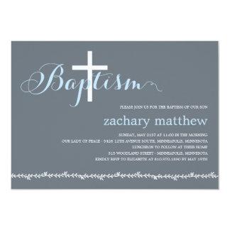 Invitación preciosa del bautismo de la frontera -