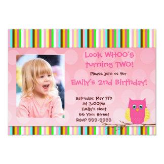 Invitación preciosa del cumpleaños de Whos de la