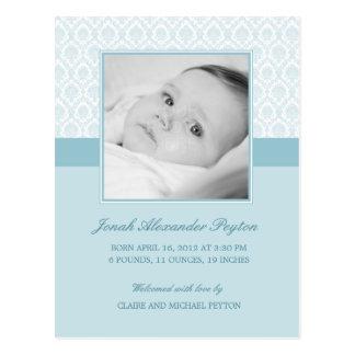 Invitación preciosa del nacimiento del bebé del da postales