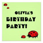 Invitación preciosa Olivia de la fiesta de Invitación 13,3 Cm X 13,3cm