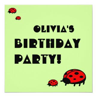 Invitación preciosa Olivia de la fiesta de