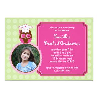 Invitación preescolar de la foto de la graduación