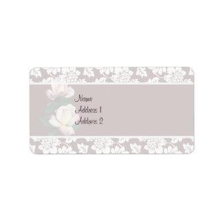Invitación prístina del boda de la variedad de los etiquetas de dirección