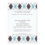 invitación punky azul de la fiesta de cumpleaños