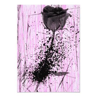 Invitación punky color de rosa salpicada del dulce invitación 12,7 x 17,8 cm